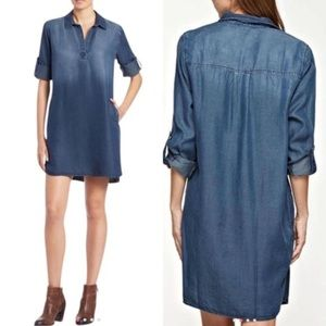 CLOTH & STONE Tunic Anthropologie Chambray Dress
